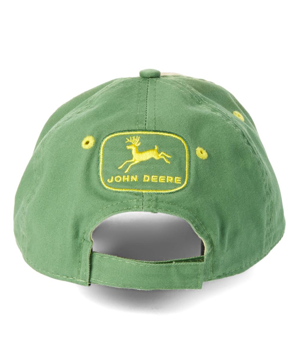 8b1ce415a88 ... Mens JD Green Green   White  John Deere Power Farmer  Baseball Cap -  Alternate