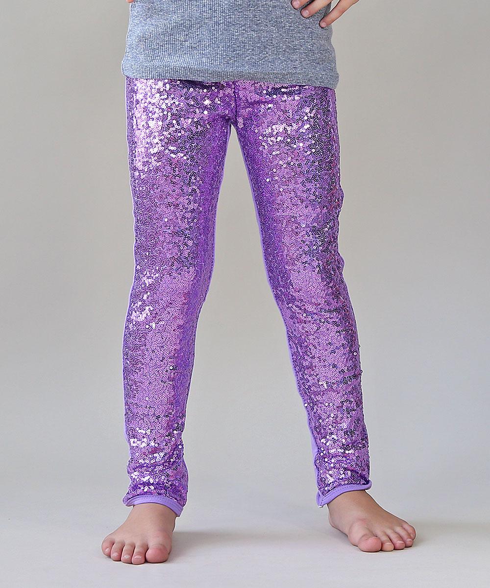 20b7122e0ce Whitney Elizabeth Lavender Sequin-Front Leggings - Toddler   Girls ...