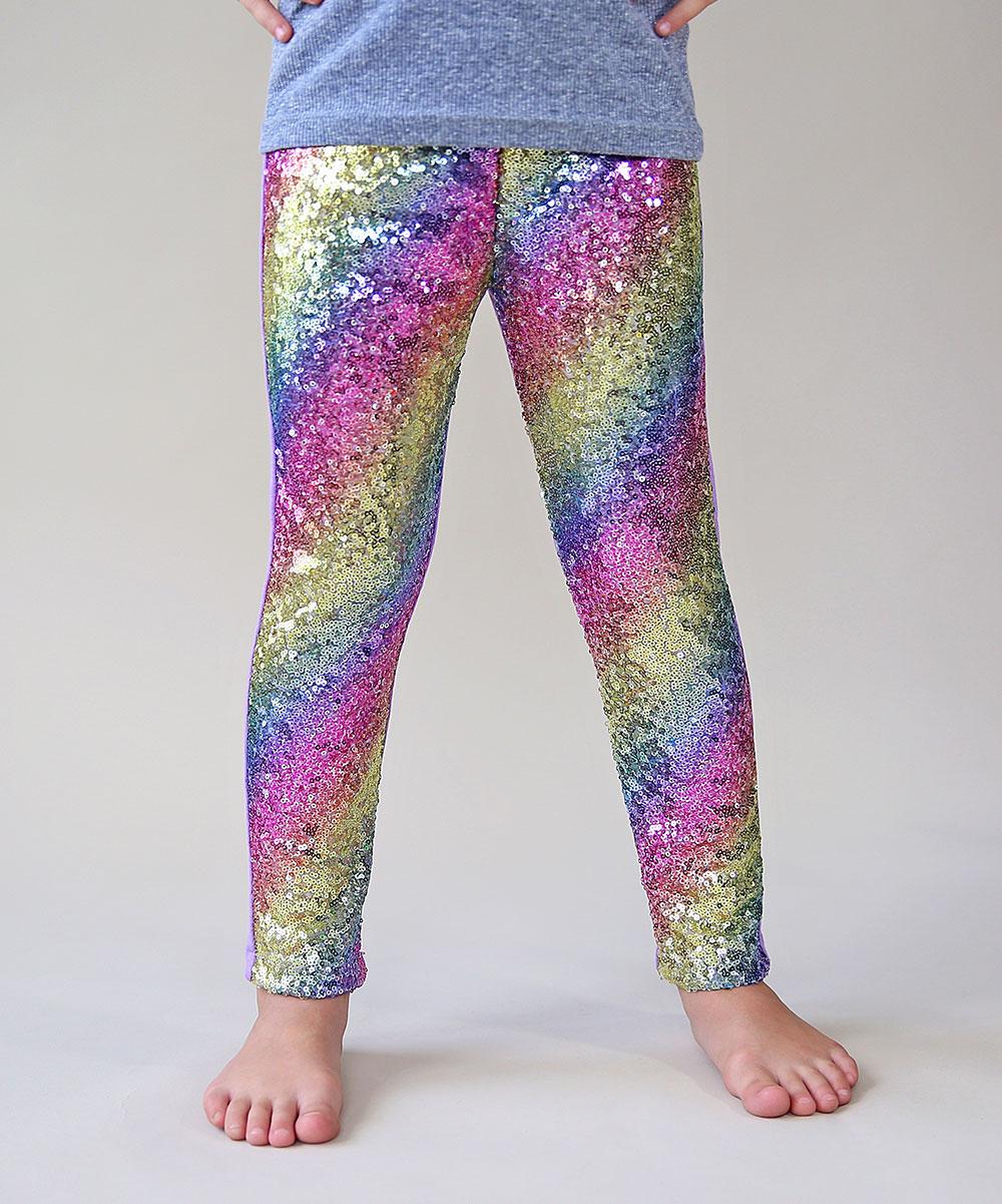 9331c5152bb1 Whitney Elizabeth Pastel Rainbow Sequin Leggings - Toddler | Zulily