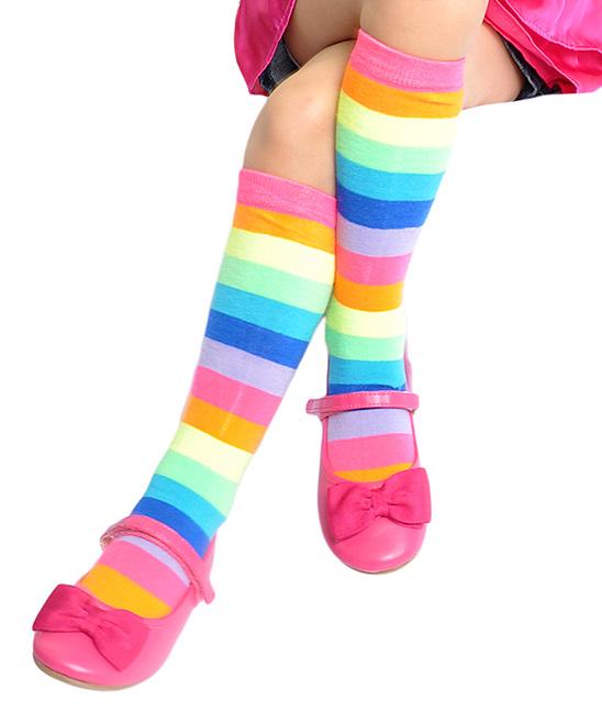 bbf59ec5792 Angelina Neon Rainbow 6-Ct. Knee-High Socks - Kids
