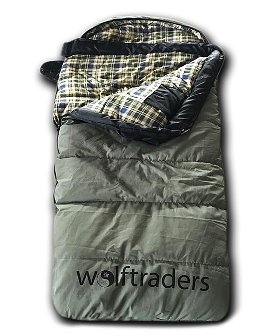 Olive & Blue +0 Degree Kids Oversize Sleeping Bag