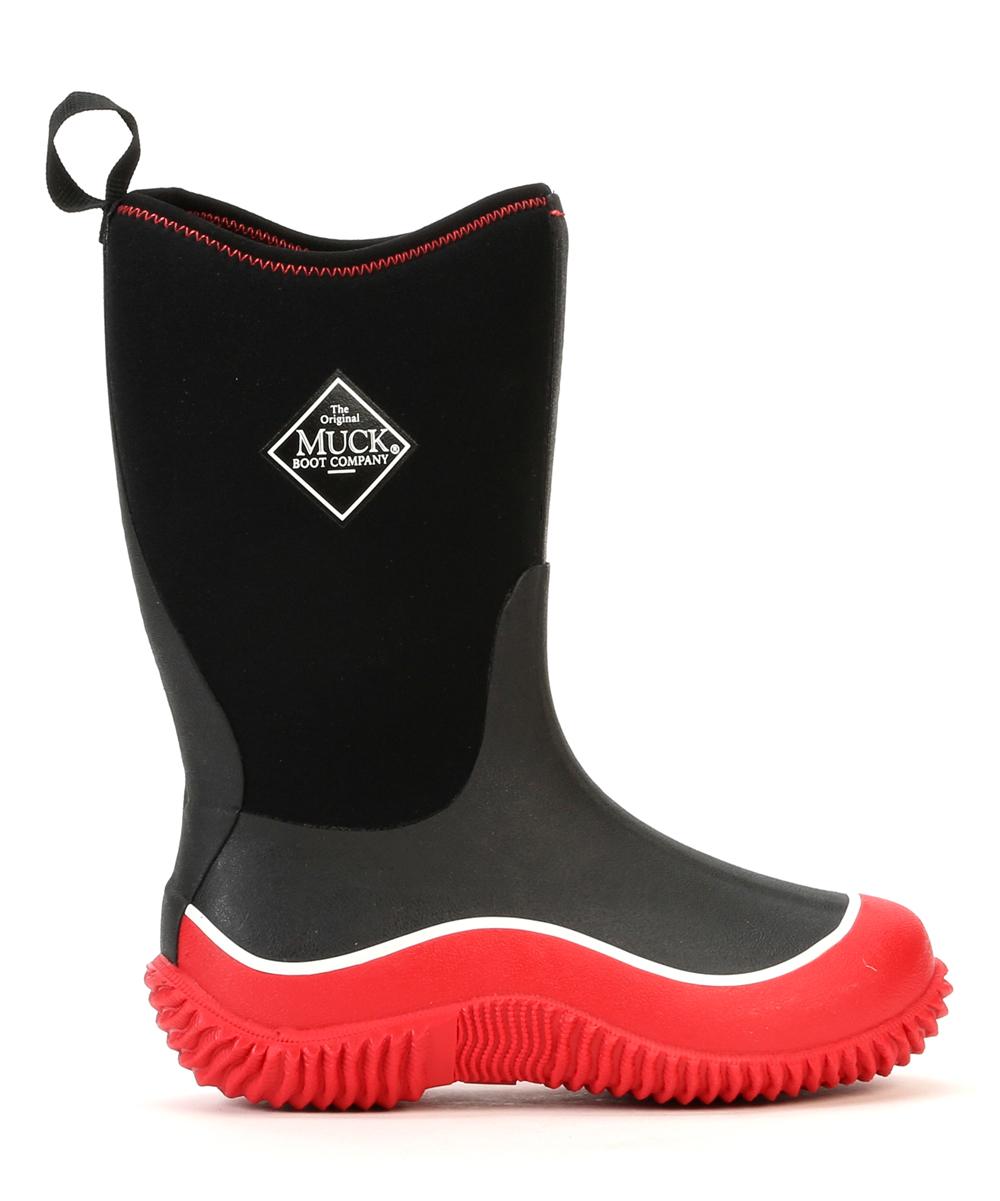 22e89458f39 The Original Muck Boot Company Black   Red Hale Rain Boot - Kids ...