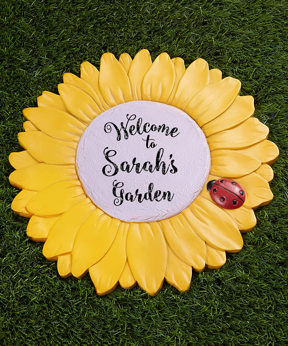 'My Garden' Personalized Flower Garden Stone