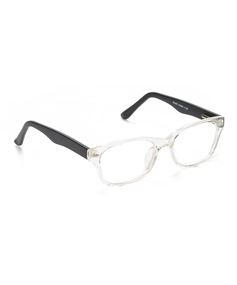 Bella Vista Women's Reading Glasses Black - Black & Clear Readers