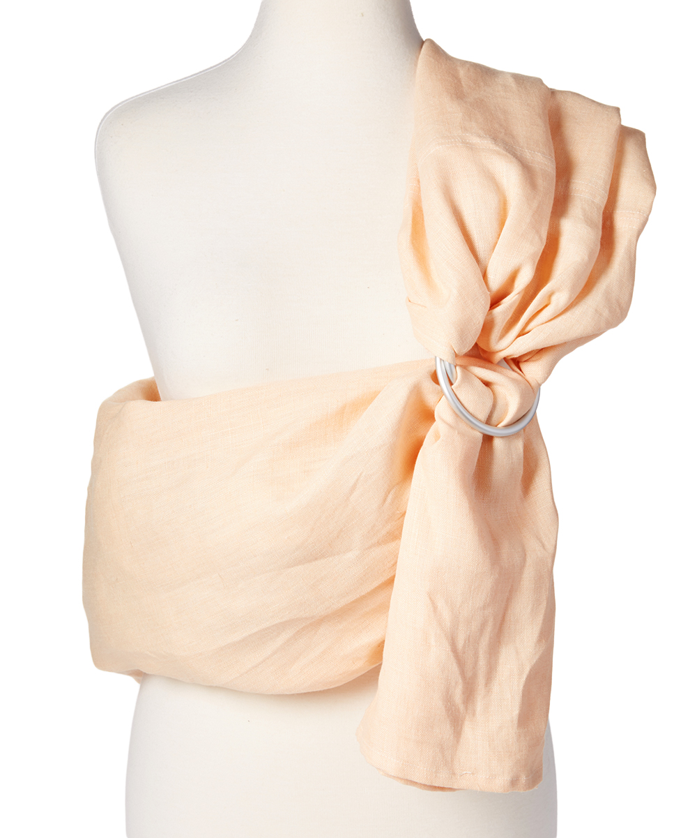 Hip Baby Wrap  Baby Carriers Peach - Peach Linen Ring Sling Peach Linen Ring Sling. Carrying Baby is a breeze with this breathable linen sling featuring an adjustable design for a just-right fit and a versatile hue. 100% linenMachine wash; hang dryImported
