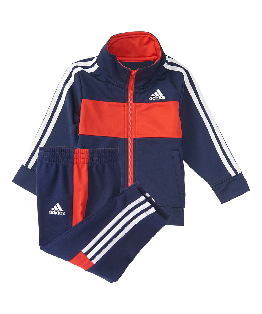 3d8275676 adidas Navy Team Tricot Jacket   Active Pants - Toddler   Boys