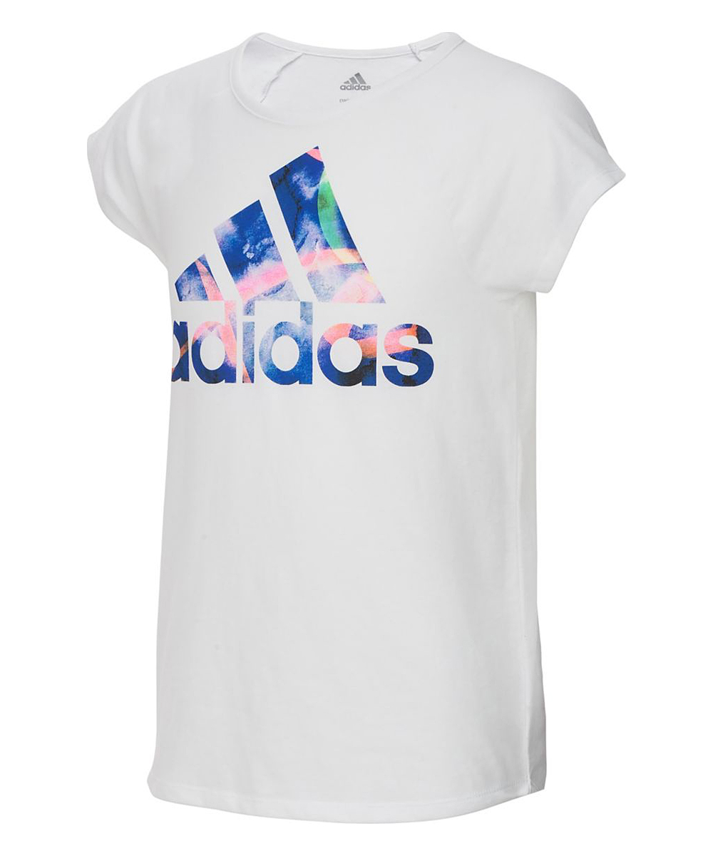 1b984221a75534 all gone. White Logo Goals Scoop Neck Tee - Toddler