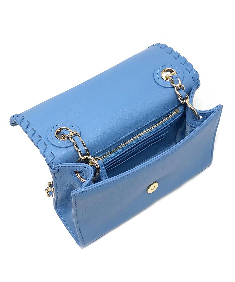 90ee8105a8d ... Womens Montego Blue Montego Blue Marion Mini Leather Crossbody Bag -  Alternate Image 4