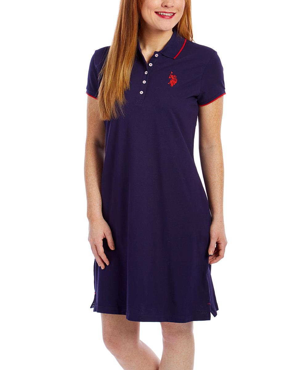 Us Polo Assn Evening Blue Tipped Dress Women Zulily