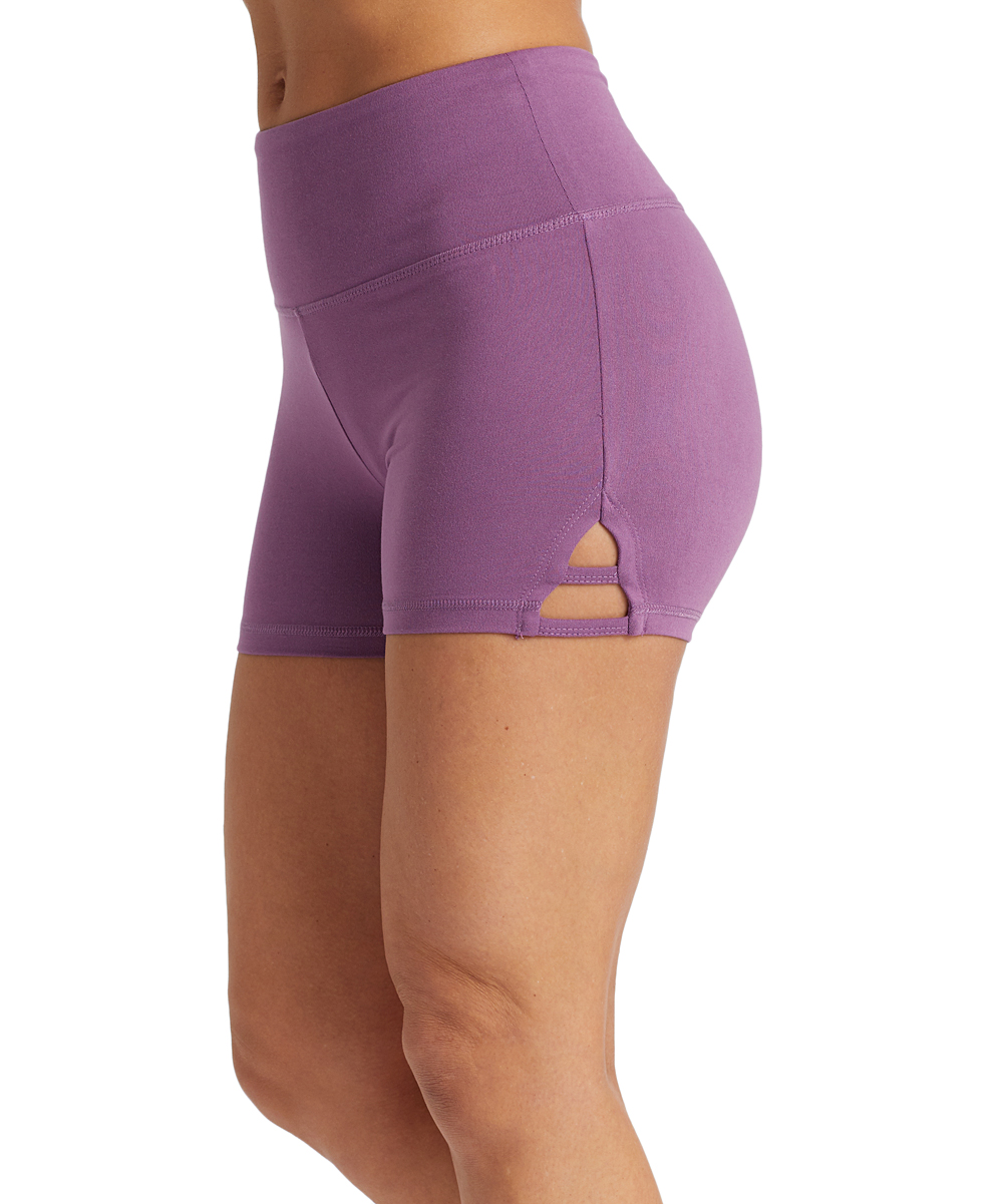 5a086f59d Concord Grape High-Rise Cutout Hot Shorts - Women - balance collection -  Zulily