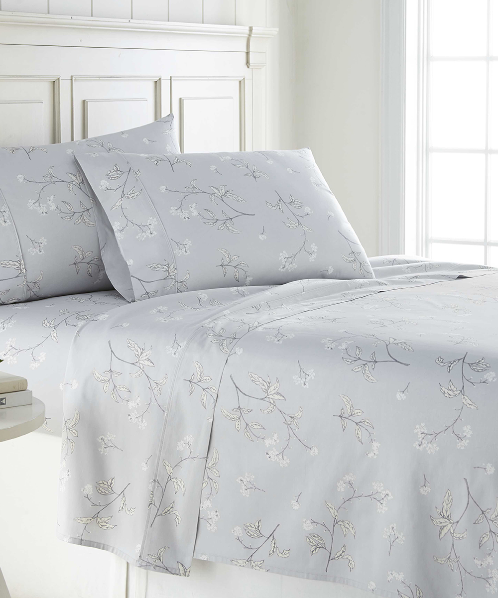 Southshore Fine Linens Gray 300 Thread Count Deep Pocket Cotton