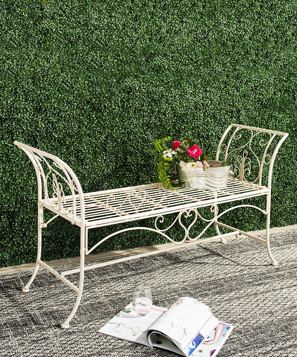 White Adina Outdoor Garden Bench