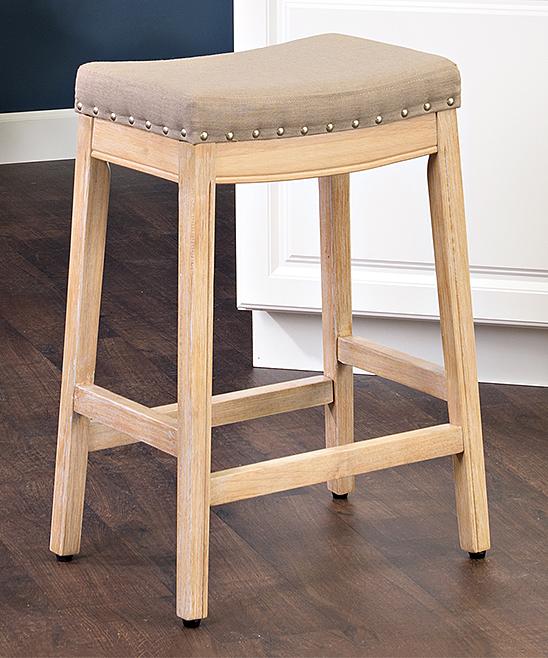 Cool Homepop Beige Blake Nailhead Counter Stool Short Links Chair Design For Home Short Linksinfo