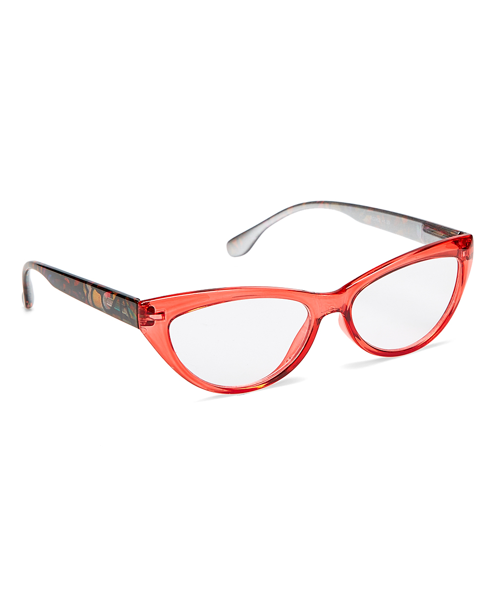 Art Wear Women's Reading Glasses Red - Red Cat-Eye Readers
