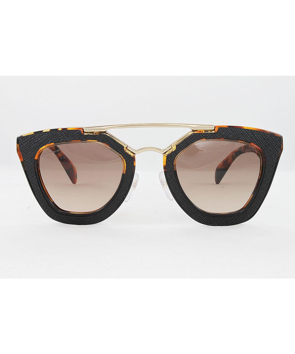 e3321ddbca all gone. Havana   Brown Double-Bridge Cat-Eye Sunglasses - Women