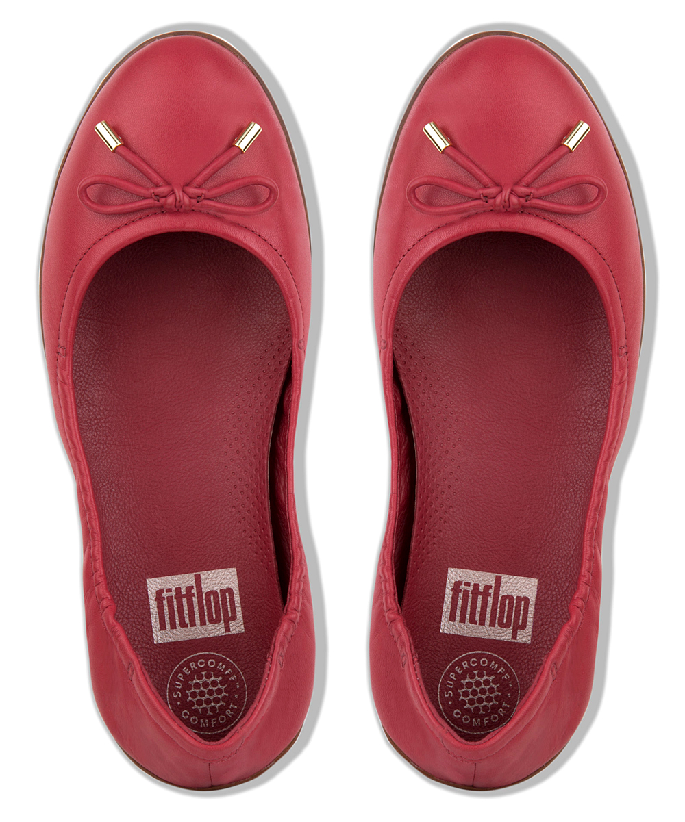 34b7ef5d2cf2 ... Womens Classic Red Superbendy Leather Ballerina Flat - Women -  Alternate Image 3 ...