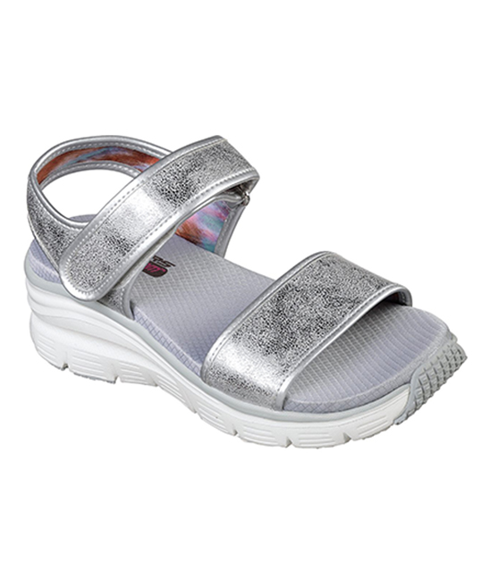 7a53282854058 Skechers Silver Wedge Appeal Brush Off Sandal - Women