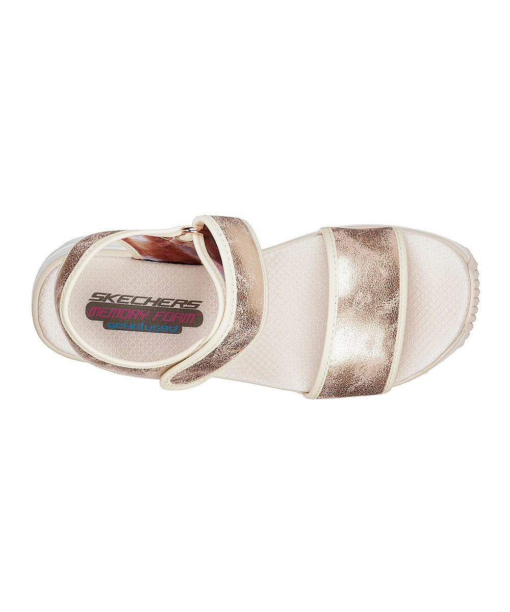 9a7e3ddc04752 Skechers Rose Gold Wedge Appeal Brush Off Sandal - Women