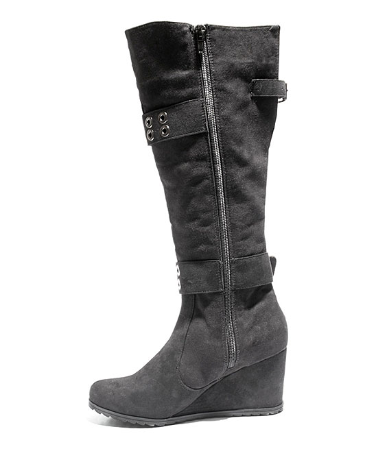 eb245949cea4 love this product Black Too Nicole Wide Calf Wedge Boot - Women