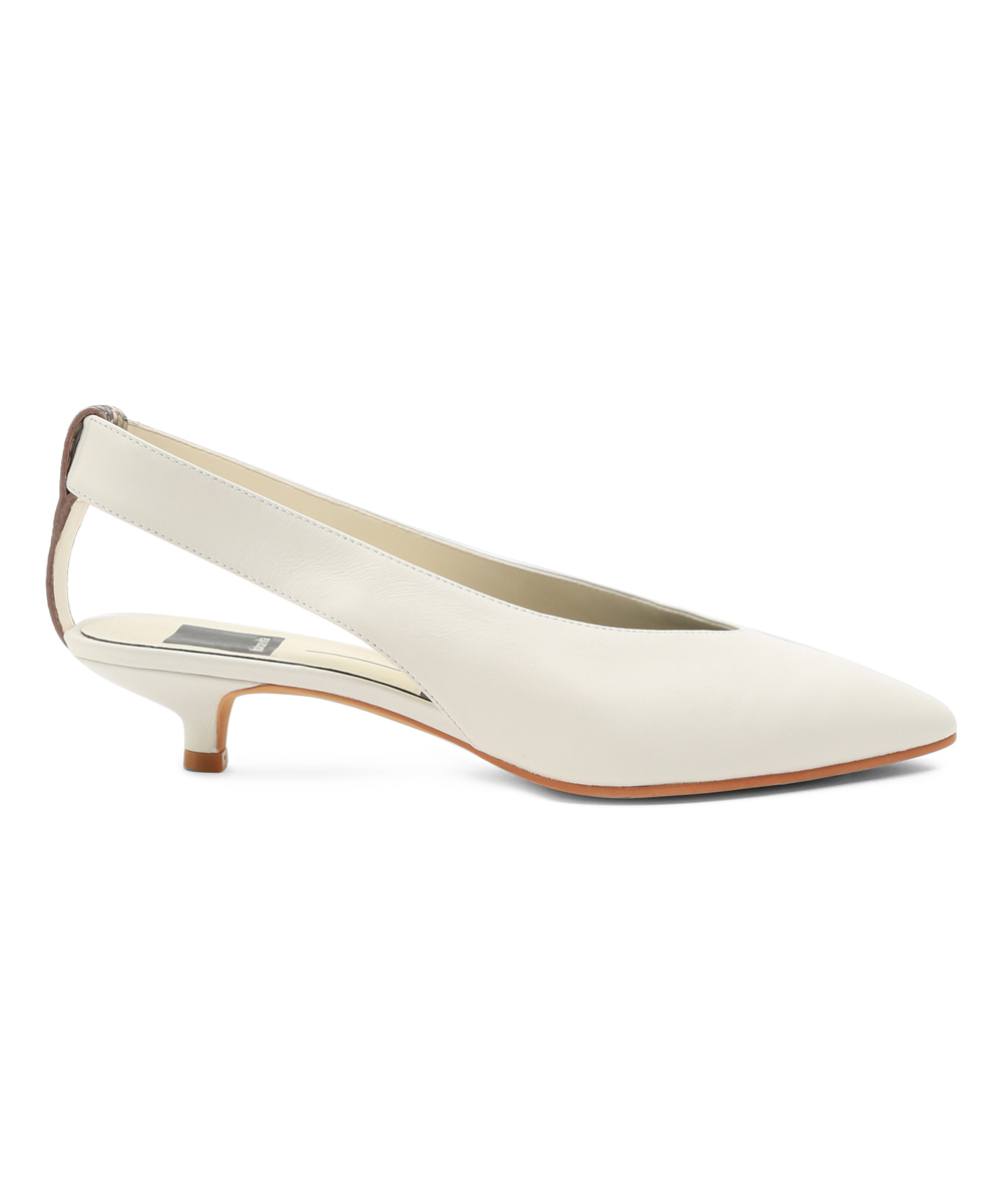 d522b74cfeab Dolce Vita Off White Orly Leather Kitten-Heel Slingback - Women