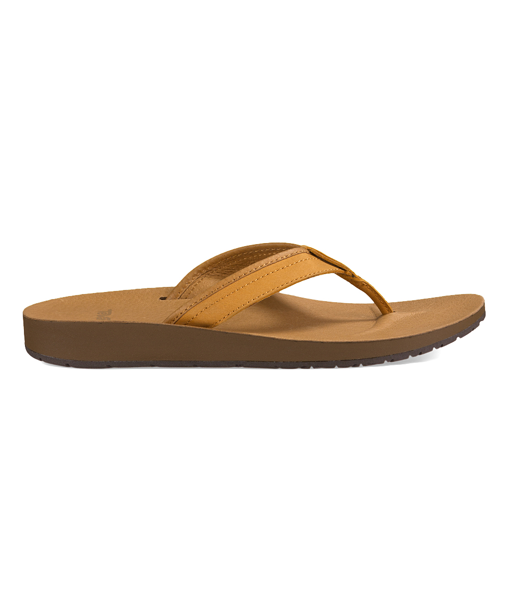 c6b1fc4cd82a love this product Tan Azure Leather Flip-Flop - Women