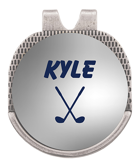 Stamp Out Online Golf Equipment Silver - Silvertone Name Personalized Golf Marker