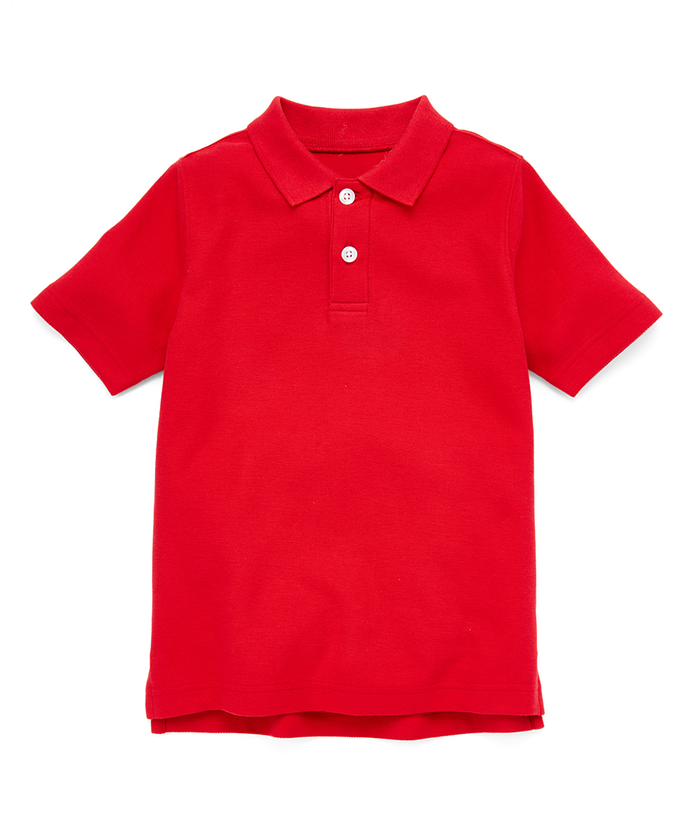 Hanna Andersson Hanna Red Organic Cotton My Classic Polo Shirt