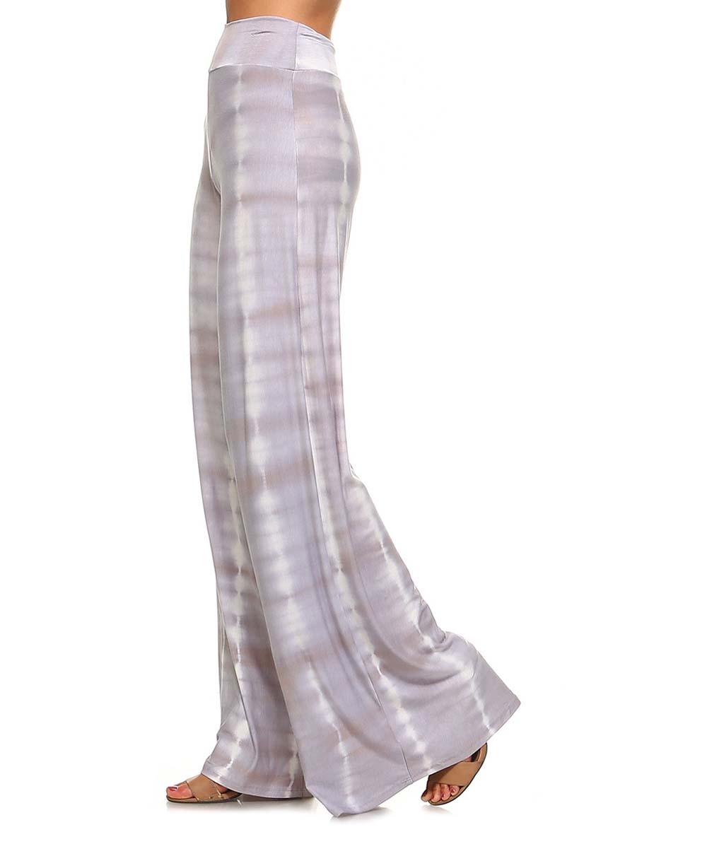 b637847b36d1a ... Womens Grey Gray Tie-Dye Palazzo Pants - Plus Too - Alternate Image 2  ...