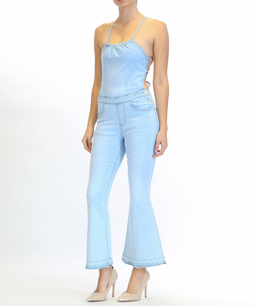 American Bazi Light Blue Never The Same Jumpsuit Women Zulily
