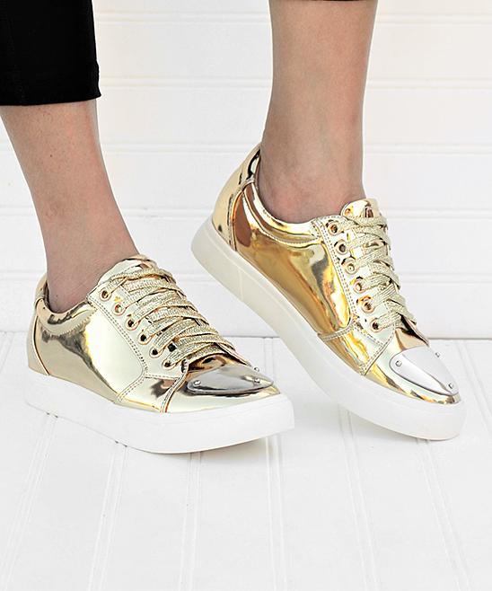 Women Sneaker Mata Carly Shoes Gold Metallic WHIYED29