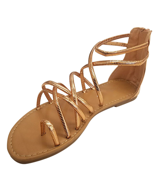 88758154595b Refresh Rose Gold Strappy Gladiator Sandal - Women