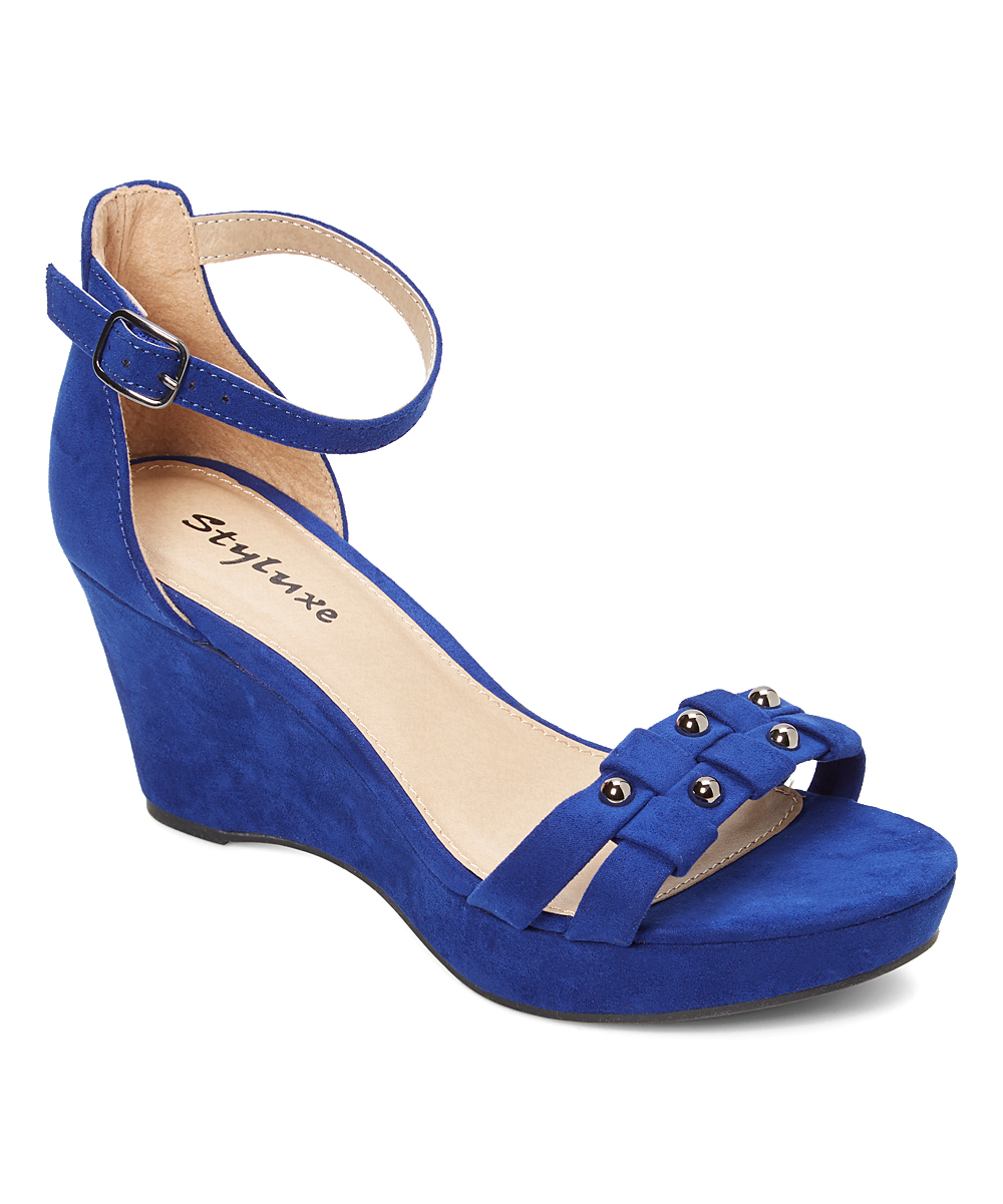 821236b3ac3 all gone. Royal Blue Ergo Ankle-Strap Wedge Sandal - Women