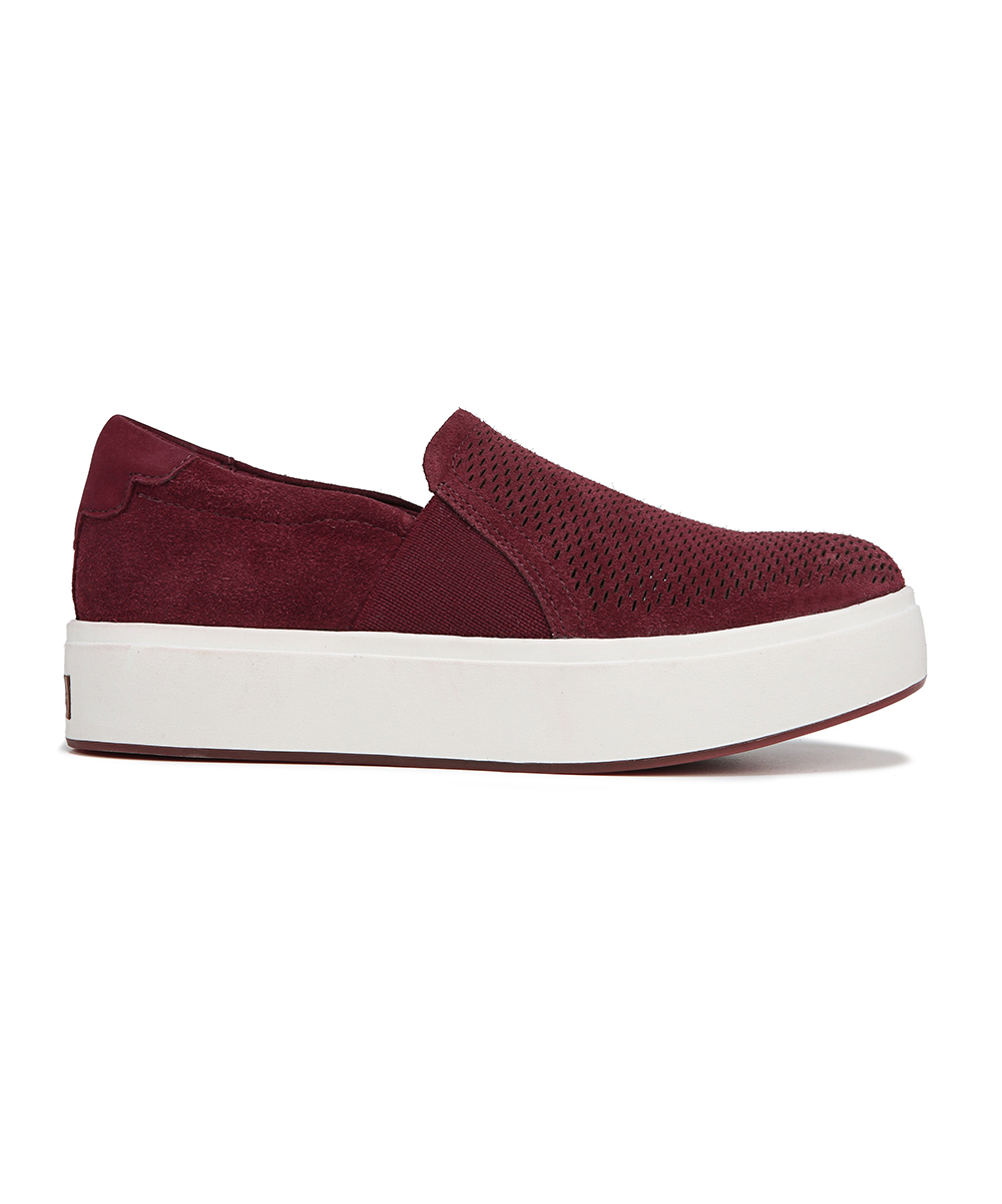 54288c420d744 ... Womens RED VELOUR SUEDE LEATHER Red Velour Abbot Lux Suede Sneaker -  Alternate Image 2 ...