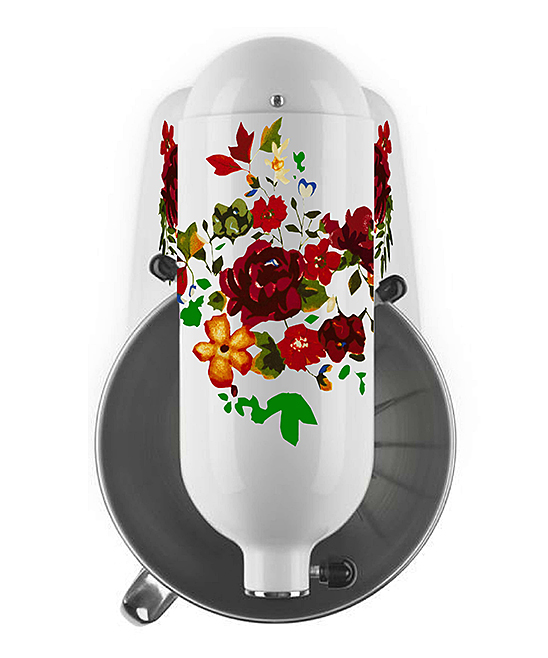 AZ Vinyl Works  Decals  - Dark Red Pioneer Flowers Mixer Decal Set Dark Red Pioneer Flowers Mixer Decal Set. Show your favorite countertop helper a little bit of love with the addition of colorful decals that bring personalized style to the kitchen. Mixer not includedFits 4- and 5-qt. mixersSheet: 6'' W x 9'' H x 1'' DPrinted adhesive vinyl