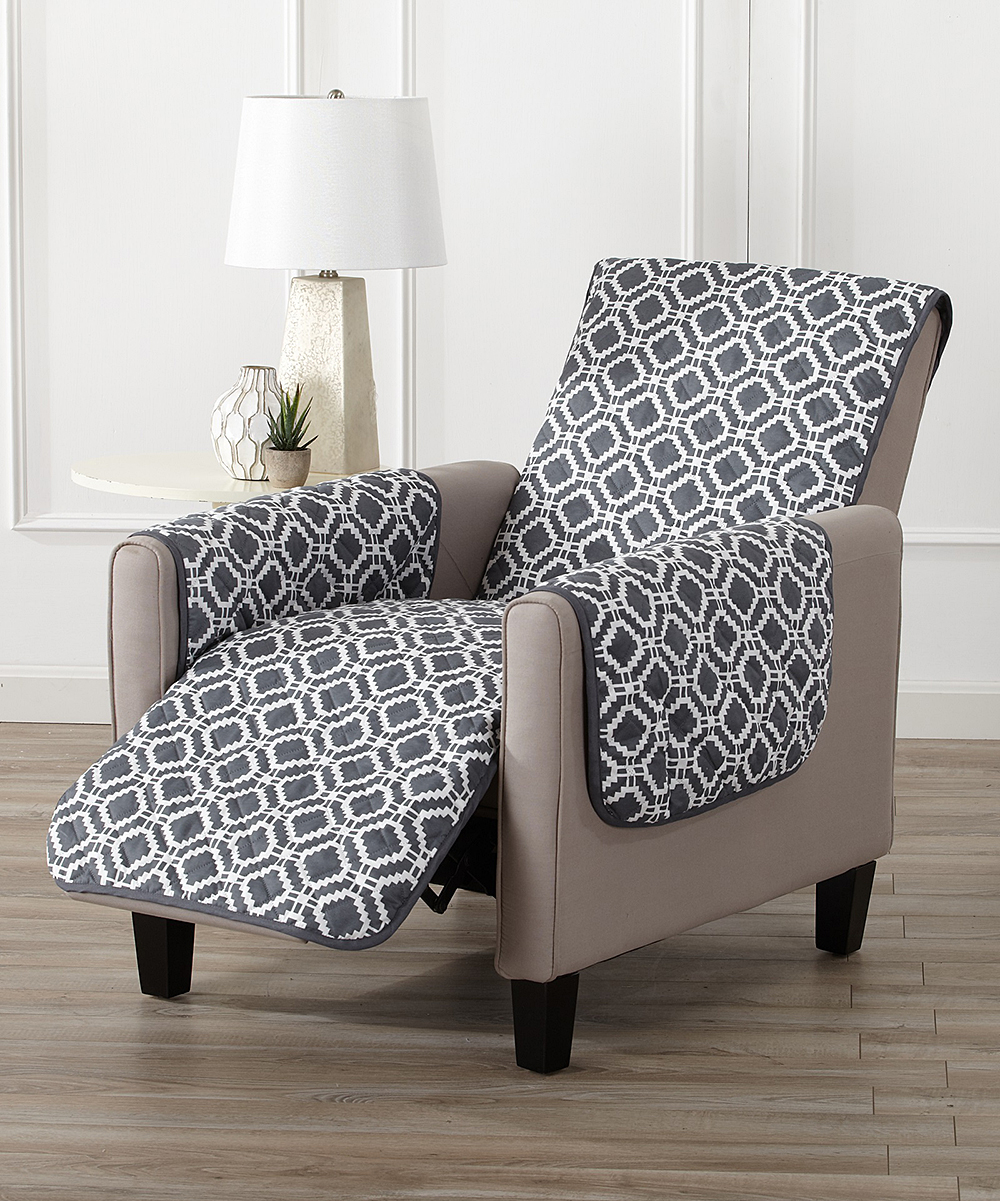 Home Fashion Designs  Indoor Furniture Covers Steel - Steel Gray Liliana Reversible Recliner Furniture Protector