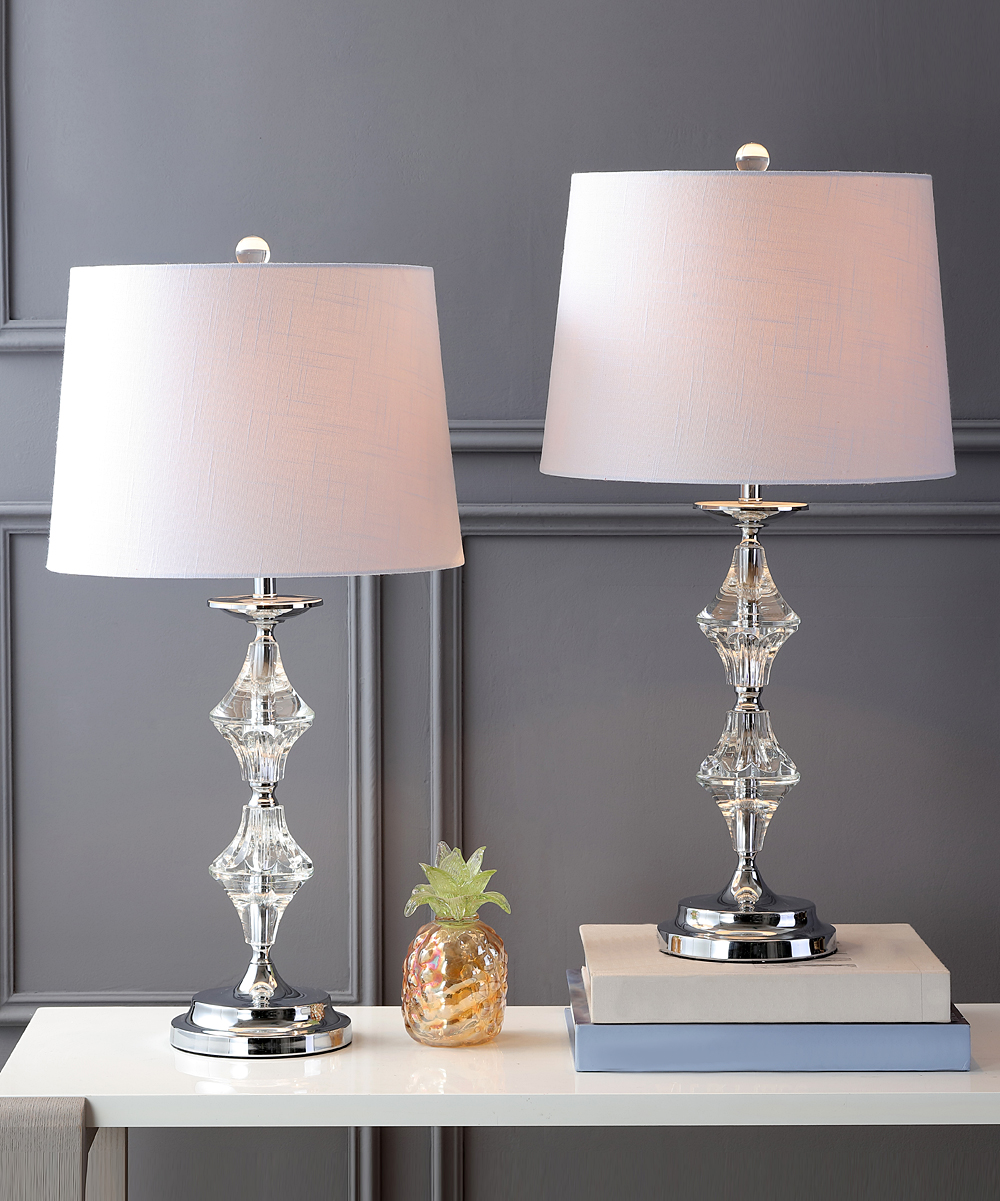 Jonathan Y Chrome Madison Crystal Table Lamp Set Of Two Zulily