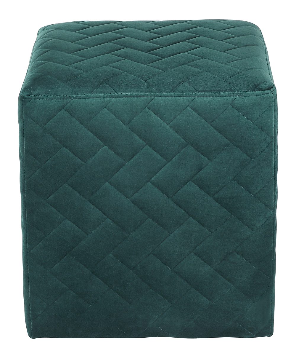 Inspired Home Hunter Green Quilted Ottoman Zulily