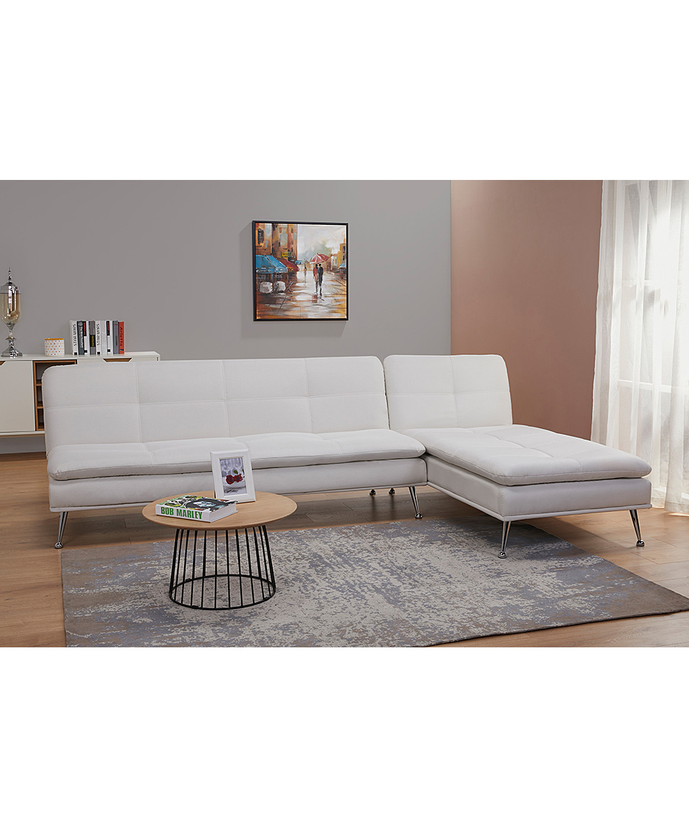 Gold Sparrow Ivory Palmdale Convertible Sectional Sofa Bed