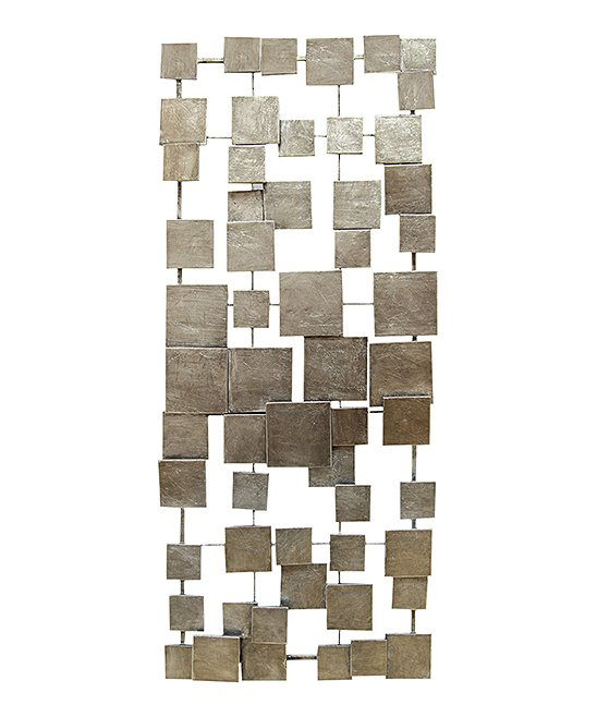 Stratton Home Decor  Typography Wall Decor Champagne - Geometric Tiles Wall Decor Geometric Tiles Wall Decor. This geometric tile wall decor boasts a contemporary rustic design for the ultimate in industrial-chic.14'' W x 32.25'' HMetalReady to hangImported