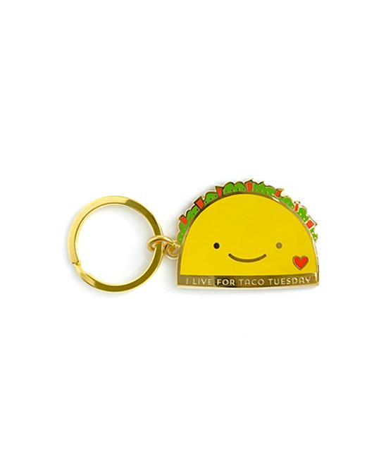 Night Owl Paper Goods  Key Chains  - Taco Tuesday Enamel Key Chain
