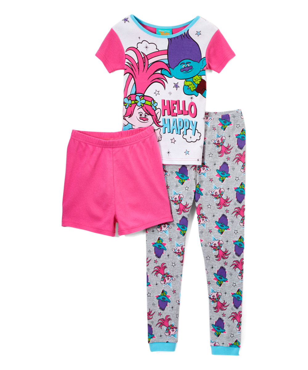 b97cb0c72 Trolls Three-Piece Pajama Set - Girls