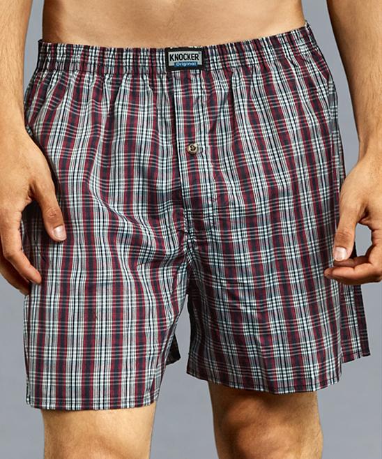 a7ea06c177fc ... Mens Assorted 12-PACK Blue Plaid 3-Pair Boxer Shorts Set - Alternate  Image ...
