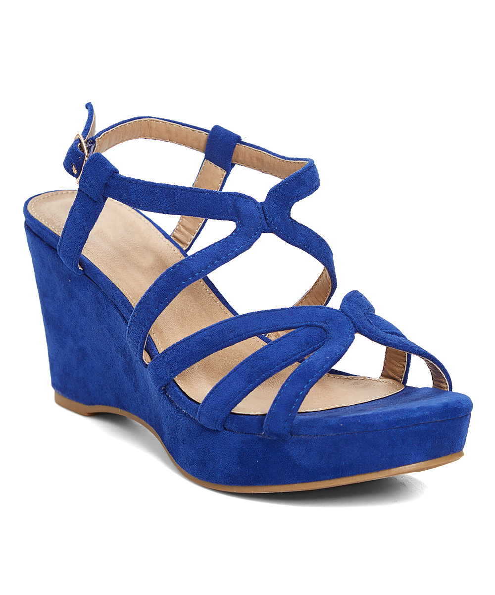 a3c61ba8cef Styluxe Royal Blue GTS Wedge Sandal - Women