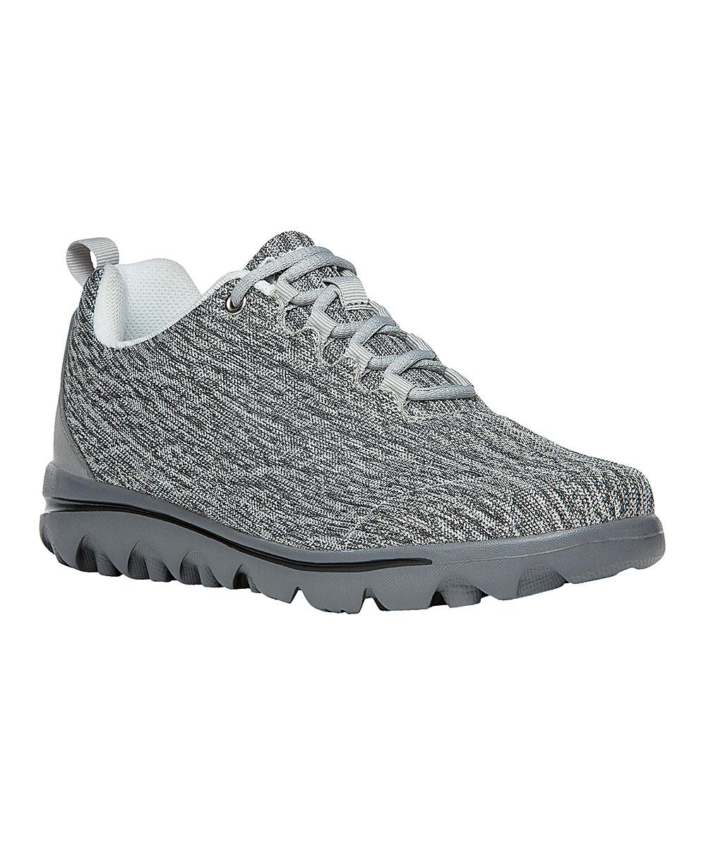 Propet Women's Walking Shoes Black/White - Heather Black & White TravelActiv Walking Shoe - Women