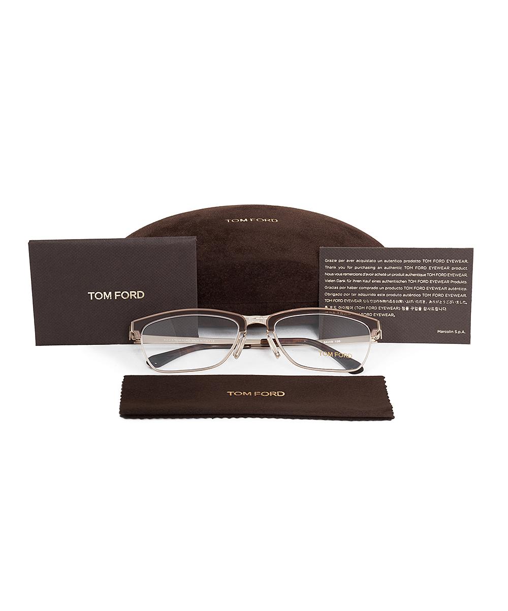 d4325037d70 ... Womens Brown Brown Matte Square Half-Rim Eyeglasses - Alternate Image 5