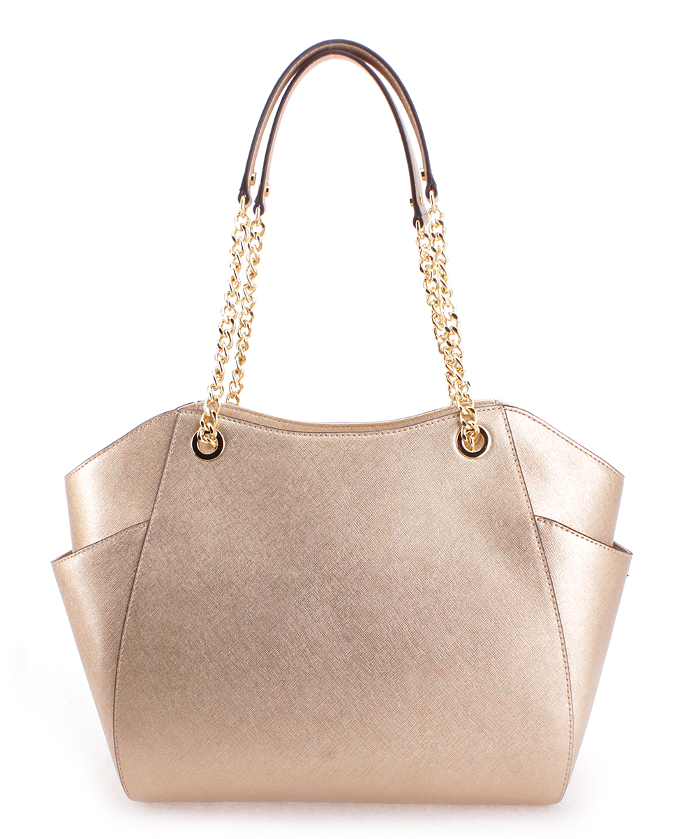 22a29407be92f love this product Pale Gold Jet Set Travel Leather Tote