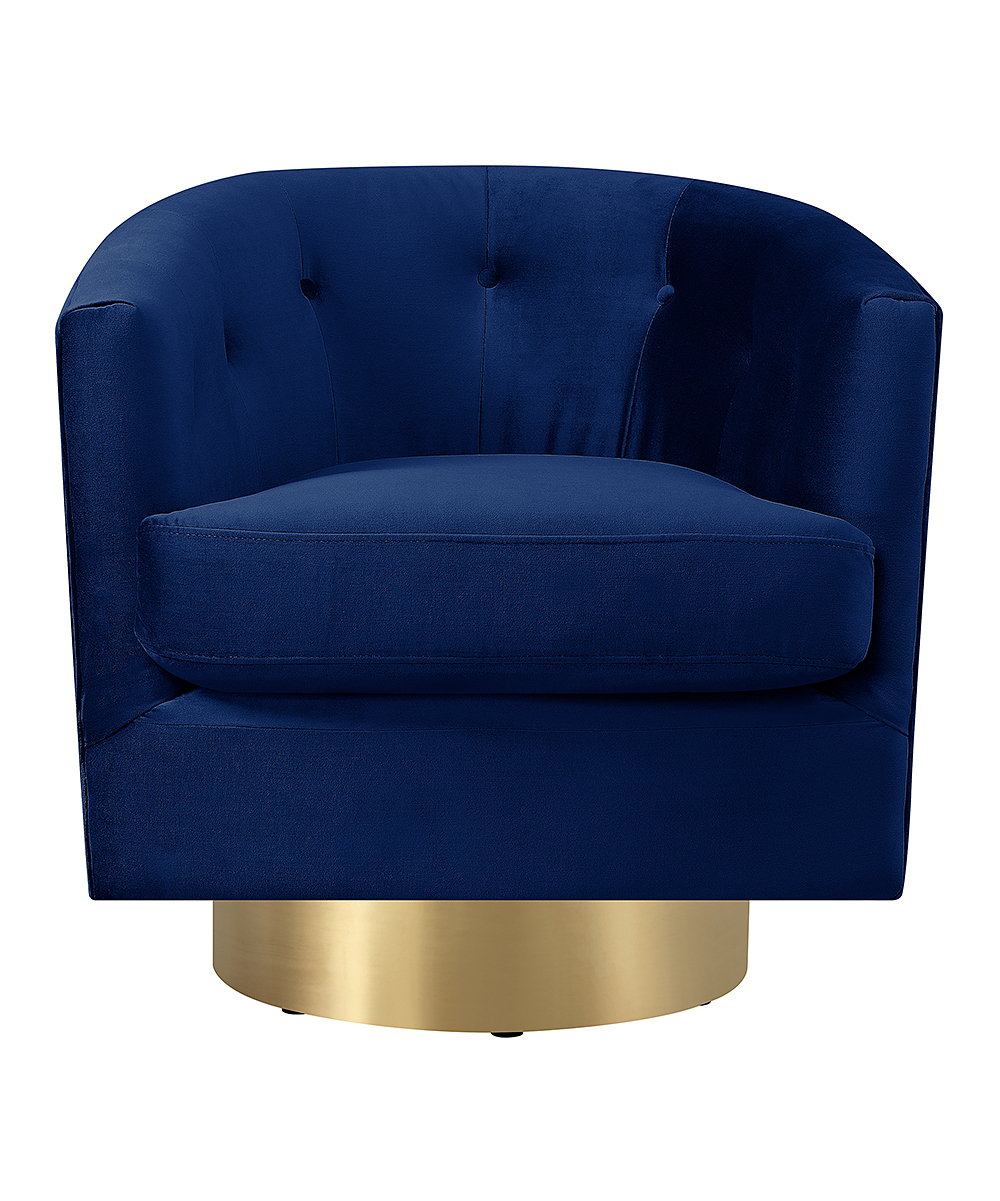 Picket House Furniture Navy Blue Carolina Swivel Armchair  d52cf0f49d