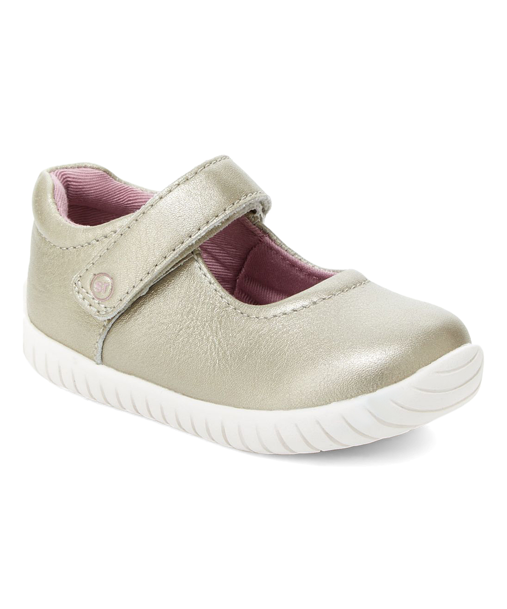 224fb196ac5b3 Stride Rite Champagne Maya Leather Mary Jane - Girls