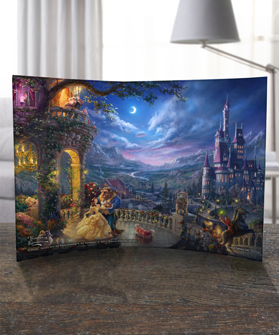 Beauty and the Beast Dancing Curved Print