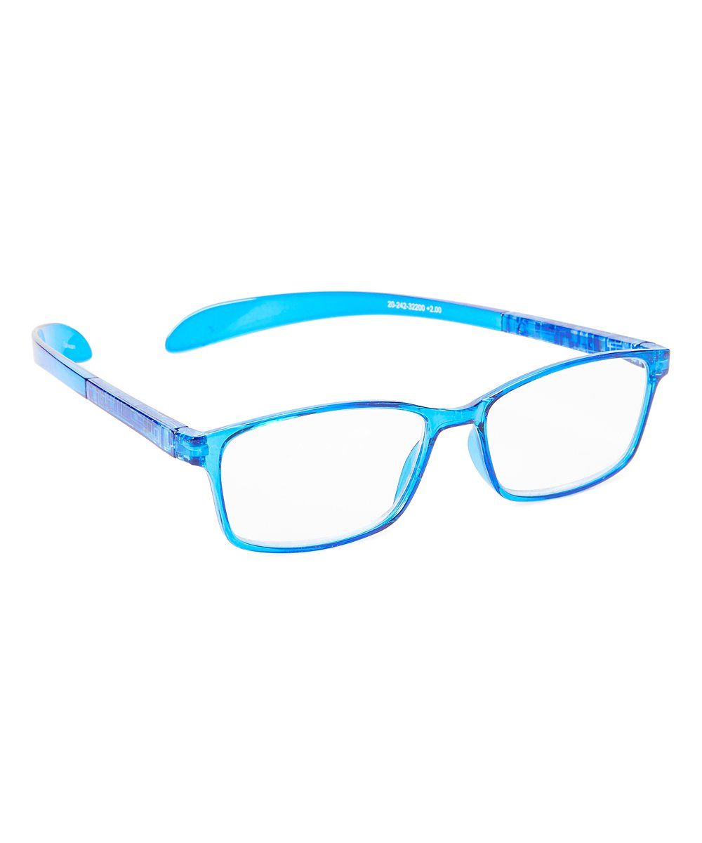 Paws N Claws Women's Reading Glasses Blue - Blue Ultra Hang Aroundz Square Readers